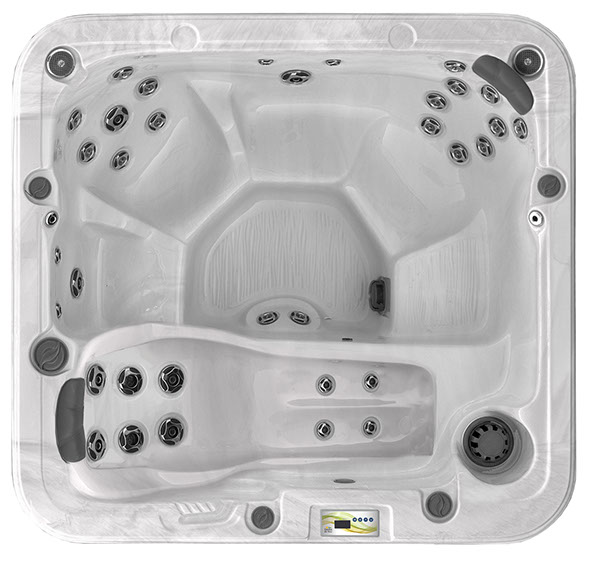 6 Seater Lounge Hot Tub Inside View