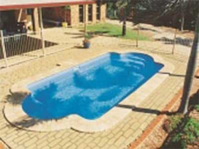 The Milano Swimming pool with stone patio