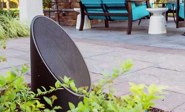 Outdoor Speaker in landscape
