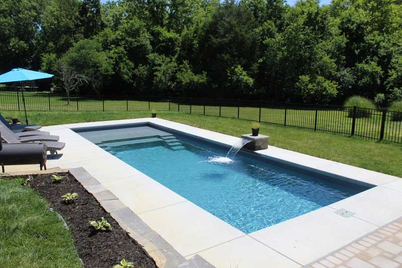 In-Ground Pool with Waterfall